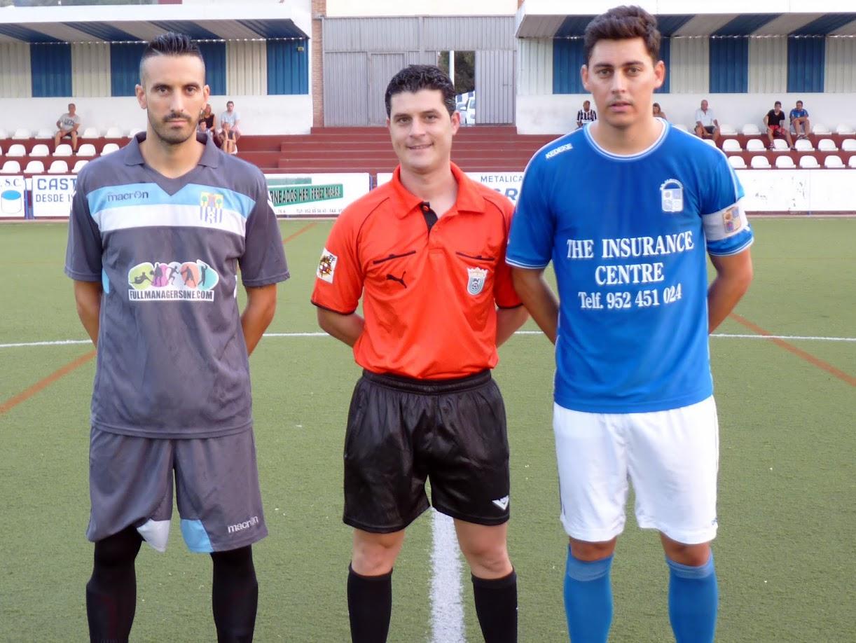 David Patalete hizo de capitán en el amistoso ante el Alhaurín de la Torre CF