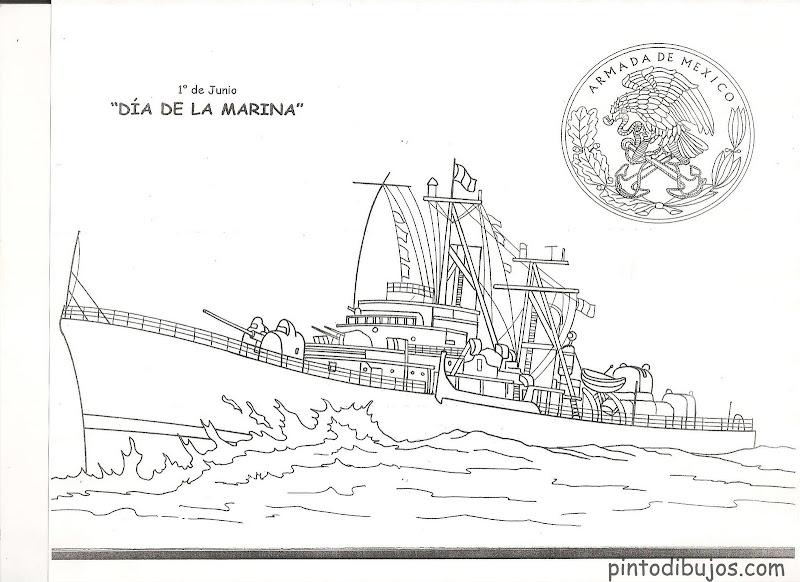 Dibujos del dia de la marina para colorear
