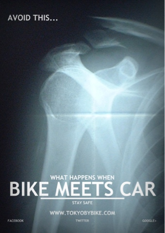 What happens when a bicycle meets a car.