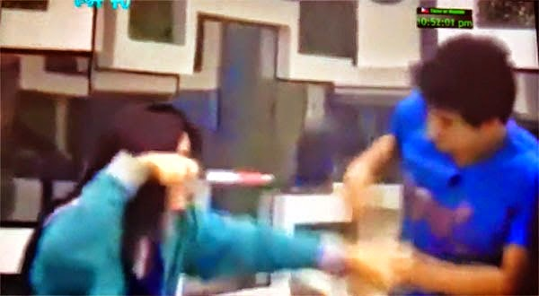loisa andalio point a kitchen knife to manolo pedrosa