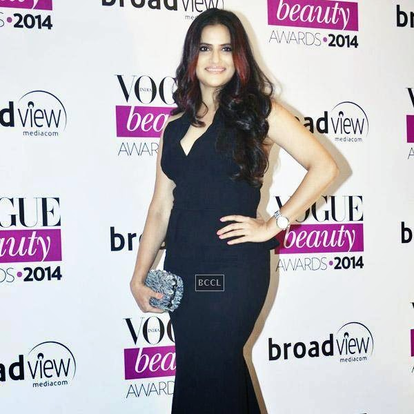 Singer Sona Mohapatra arrives for Vogue Beauty Awards 2014, held at Hotel Taj Lands End in Mumbai, on July 22, 2014.(Pic: Viral Bhayani)