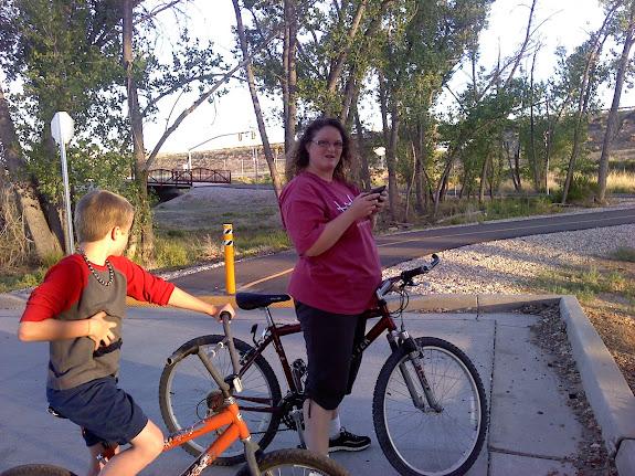 I got Traci on a mountain bike.  Once.