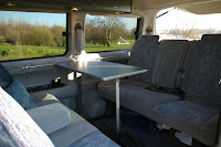 Comfortable seating for five in the rear