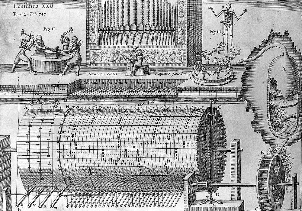 De la <em>Musurgia universalis</em> de Atanasio Kircher (1650).