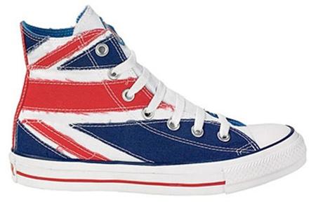 Inspiração Union Flag (bandeira do Reino Unido) - tênis All Star Converse