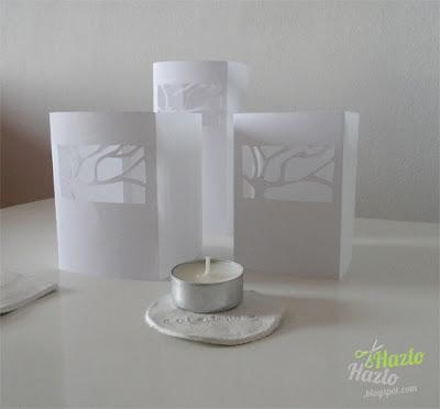 Cómo hacer candelabros caseros con papel.