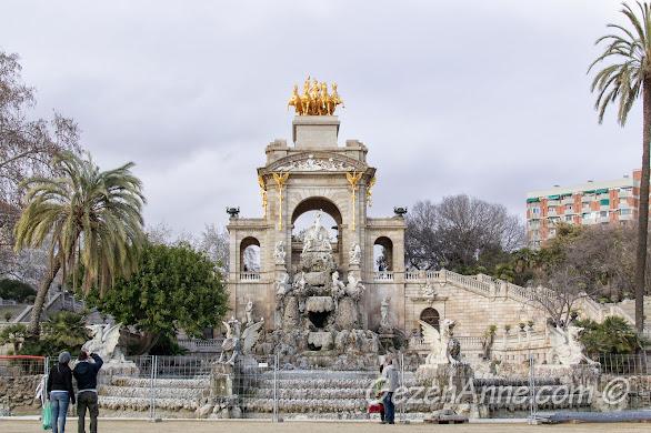 Ciutadella parkı içinde La Cascada çeşmesi, Barselona
