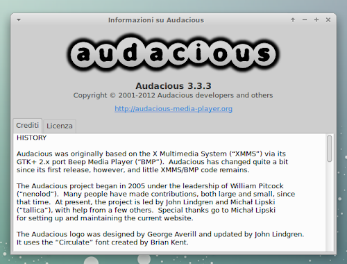 Audacious 3.3.3 - info