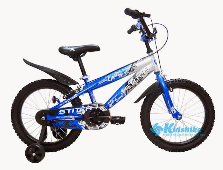 Xe đạp Stich Hiphop 18 màu xanh nước biển - đen