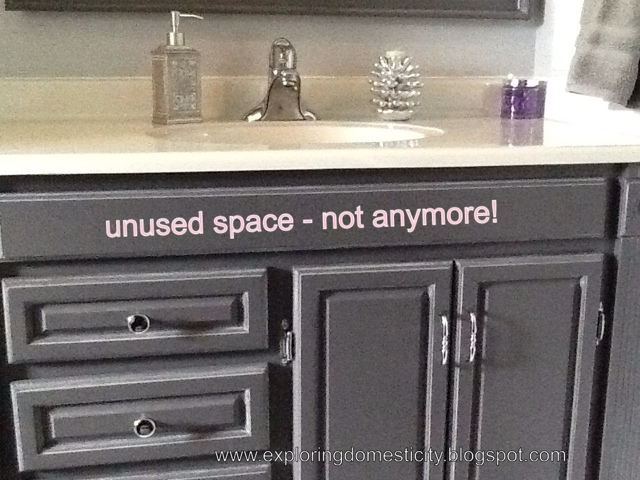 Secret Vanity Drawer : Taking Advantage Of Unused Space