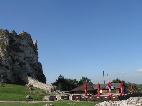 zamek ogrodzieniec - wejście na podzamcze