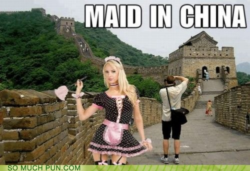 photo of a maid on the Great Wall of China...Maid in China
