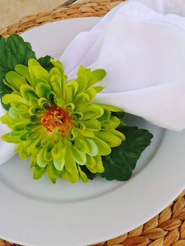 Flower napkin ring tutorial