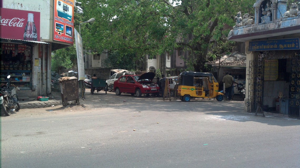 ashok nagar illegal road barricade and mechanical work