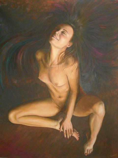 Entre el fuego y el cielo,pintura de Emilio Romero Rodríguez
