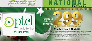 PTCL National Package: Broadband DSL for Rs. 299