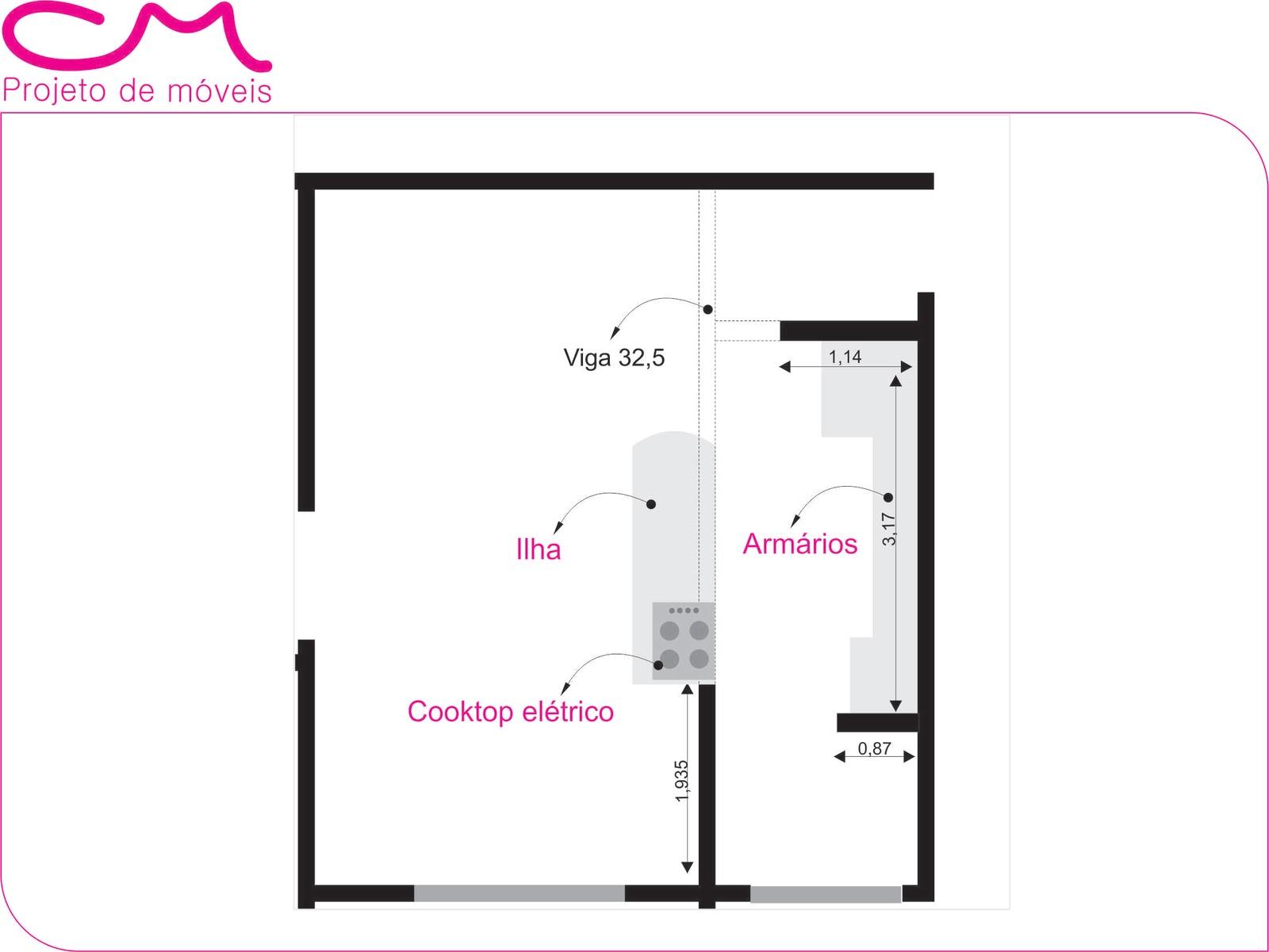 para divisão do ambiente sala e cozinha veja abaixo o croqui #C00B73 1600 1201
