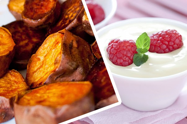 Eat sweet potato and yogurt, it's good for your health