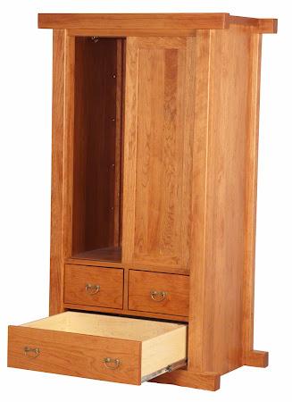 "70"" x 40"" Custom Tansu Armoire Dresser in Red Cherry"