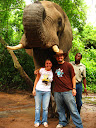 A pretty cool photo of us. Good thing the elephant didn't get hungry while we were standing there! ;-)