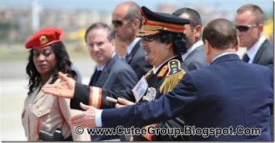 Libyan President Muammar Qazzafi's guards