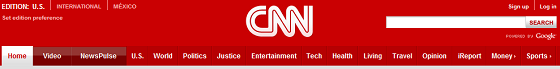 CNN nav bar