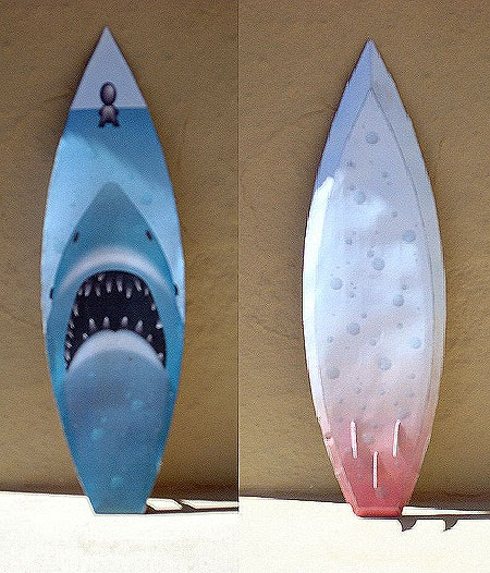 making a surfboard template - jaws surfboard papercraft free