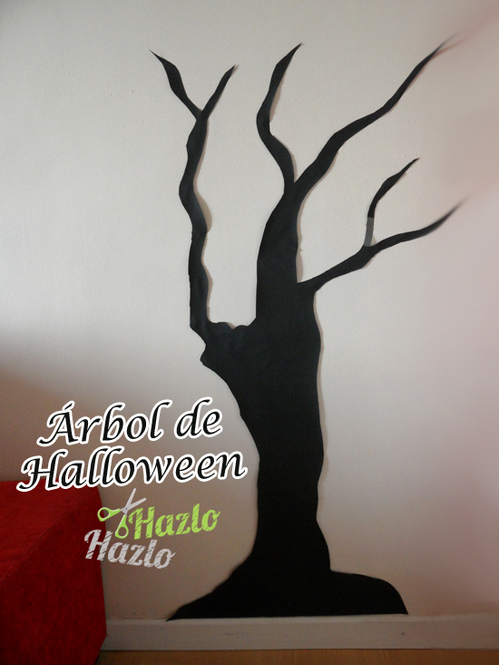 Cómo hacer un árbol de Halloween.