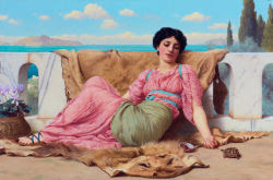 The quiet pet, por Godward