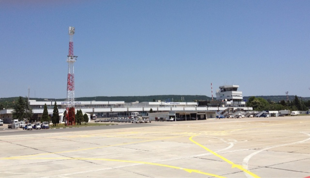 Picture of the old passenger terminal of Varna International Airport in Varna, Bulgaria.