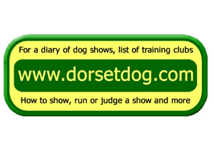 Dog show display Logo of Dorsetdog dot com