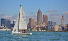 J/70 one-design sailboat- sailing Cleveland Race Week