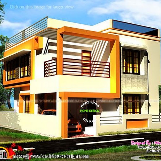 Free house plan and elevation