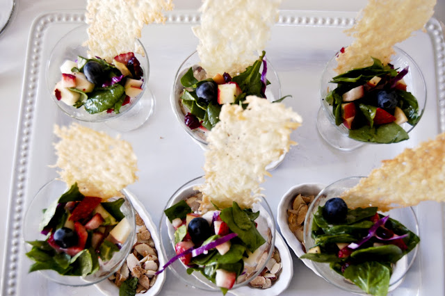mini Salad-tini's - The Style Sisters, mini  spinach and fruit  salads
