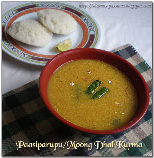 Pasi Paruppu/Moong Dhal Kurma