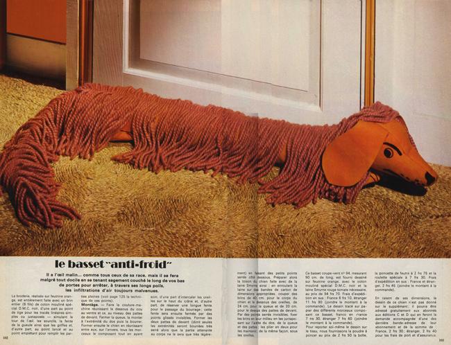 Magazine de couture vintage : Le basset
