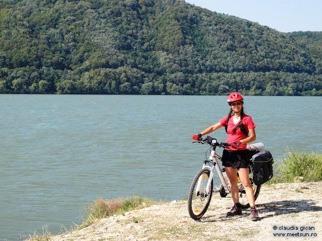 cu bicicleta la Dunare