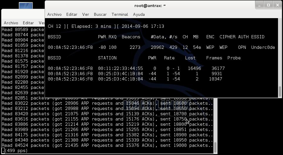 Reventando una red con cifrado WEP con un ataque ARP Request 6
