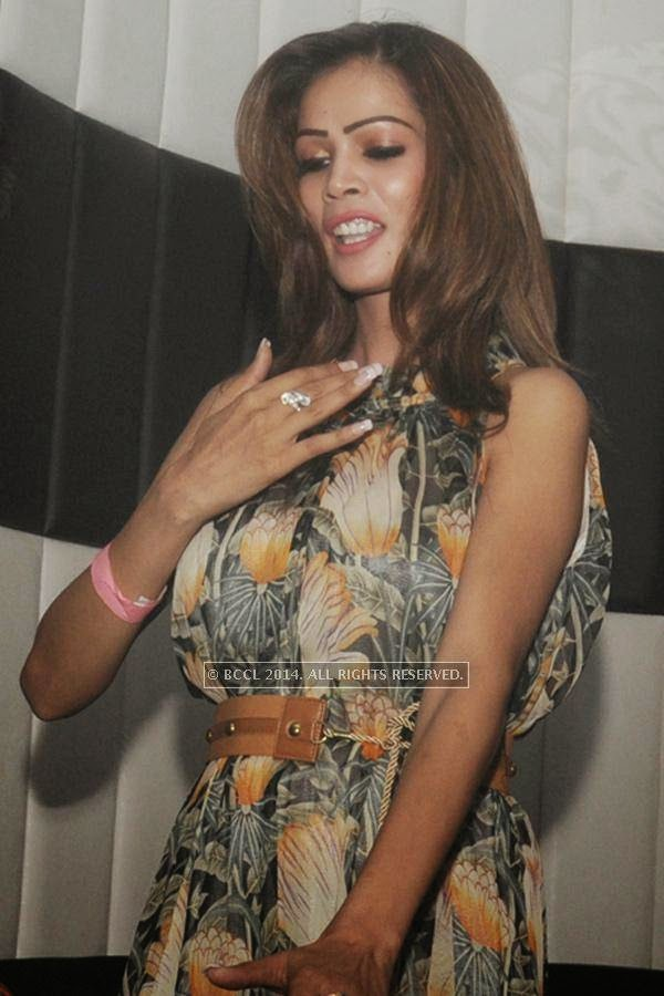 Sanjana during the party, held at BW club, New Friends Colony.