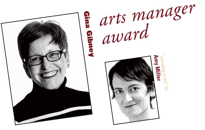 arts manager award: Gina Gibney