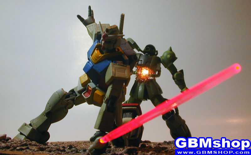 Gundam First Battle / Amuro's First Kill diorama scene