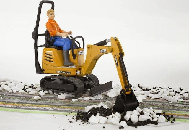 Xe xúc và công nhân BRU62002 có thể chơi trong nhà hoặc ngoài trời