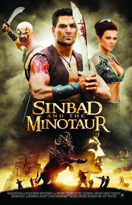 Poster Of Sinbad and the Minotaur (2011) Full Movie Hindi Dubbed Free Download Watch Online At Alldownloads4u.Com