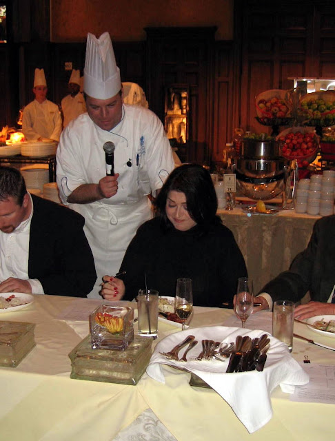 Filling out the score cards Iron Chef Judge Susan Maria Leach at Ritz Carlton Reynolds Plantation