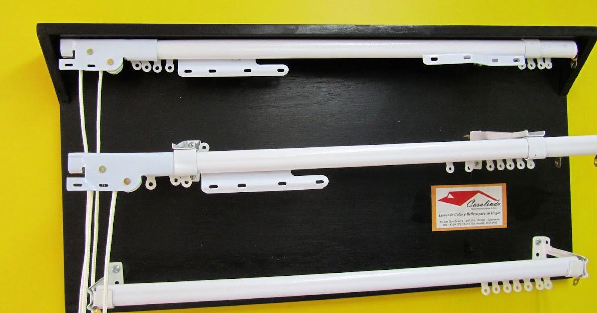 Cortinas persianas rieles para cortinas de metal for Accesorios para cortinas