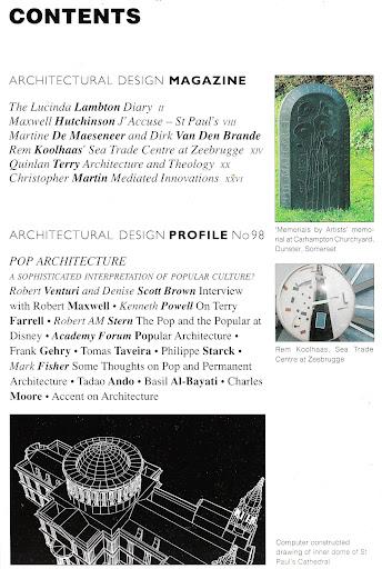 Ad architectural design magazine book pop architecture rem for Ad architectural design