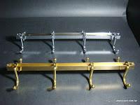裝潢五金 型號:咖啡杯架 規格:1尺/1.2尺/1.5尺 顏色:金色/白鐵 玖品五金