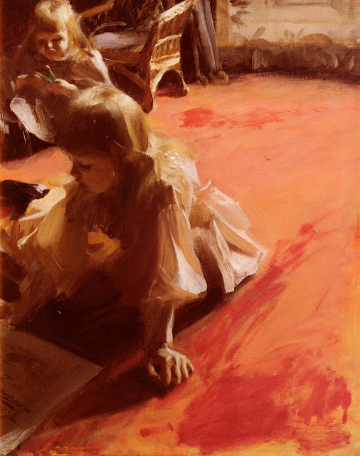 Anders Zorn - A Portrait of the Daughters of Ramon Subercasseaux
