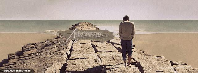 Ảnh bìa buồn cô đơn giữa biển