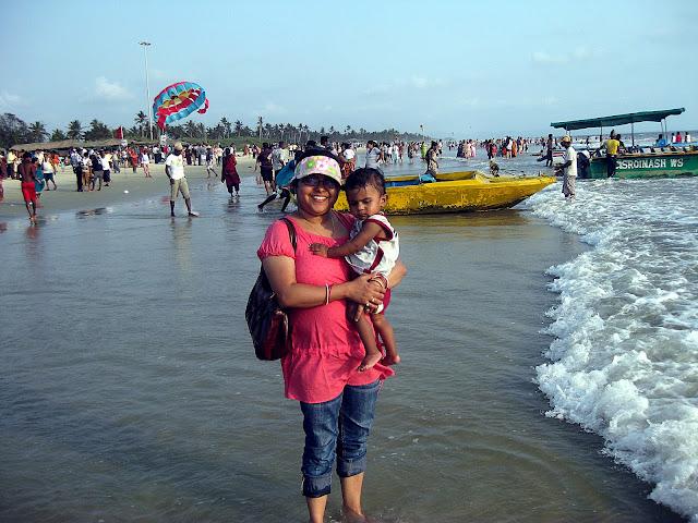 with romir on colva sea beach